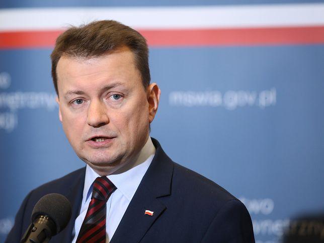 Mariusz Błaszczak skomentował próbę samospalenia w Warszawie