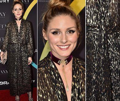 LOOK OF THE DAY: Olivia Palermo w czarno-złotej stylizacji
