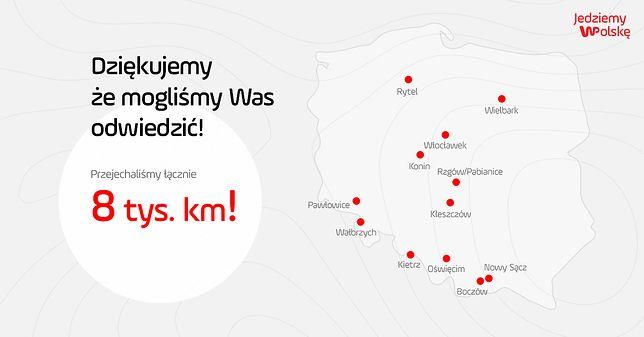 #JedziemyWPolskę. 8 tysięcy kilometrów i 12 miejsc na mapie Polski