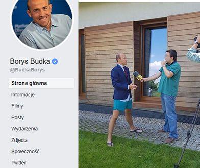 Borys Budka podczas wywiadu