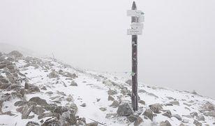 Śnieg na Kasprowym Wierchu