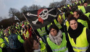 Demonstrujący we Francji wyszli na ulice w listopadzie 2018 r.