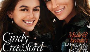 """Cindy Crawford i Kaia Gerber w paryskim """"Vogue"""