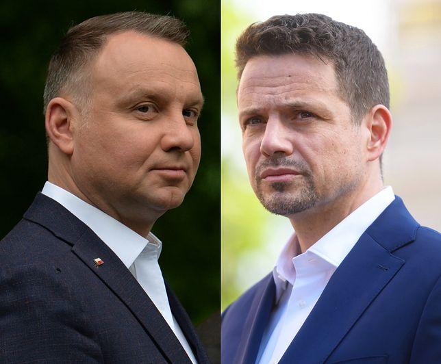 Andrzej Duda i Rafał Trzaskowski, według najnowszego sondażu, zmierzyliby się w II turze wyborów