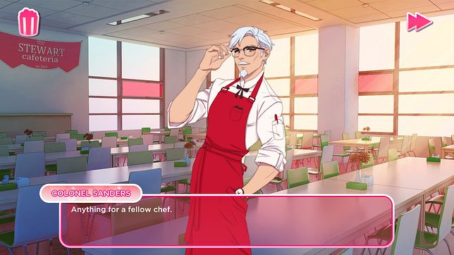 I love you colonel Sanders. Gra randkowa KFC