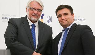 Ministrowie spraw zagranicznych RP Witold Waszczykowski i Ukrainy Pawło Klimkin