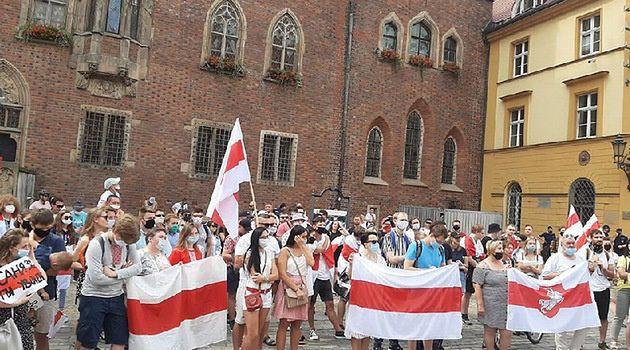 Białoruś protest poparcie