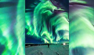 Nieziemska zorza polarna na Islandii