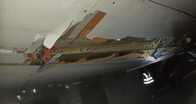 Boeing zahaczył o mur przy starcie. Na pokładzie było 130 pasażerów