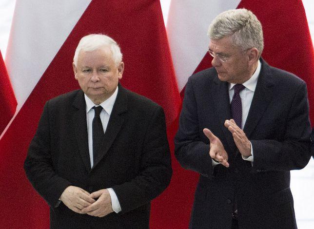 Jarosław Kaczyński ma nadzieję na odzyskanie większości w Senacie, a Stanisław Karczewski - utrzymanie się w fotelu marszałka.