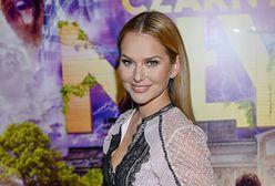 Paulina Sykut-Jeżyna w koronkowej kreacji. Zachwyciła nią na premierze filmu
