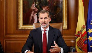 Król Hiszpanii o referendum w Katalonii