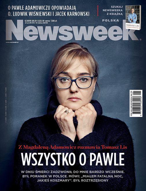 """Magdalena Adamowicz na okładce """"Newsweeka"""". Mówi o śmierci męża"""