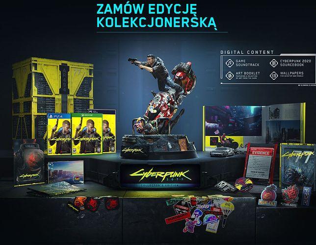 """Tak prezentuje się edycja kolekcjonerska """"Cyberpunk 2077"""""""