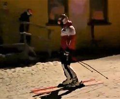 Duda przyłapany na nartach. Prezydent nie był zbyt rozmowny
