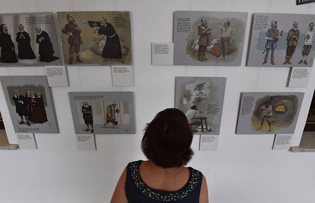 Ilustracje przybliżają twórczość i postać Miguela de Cervantesa