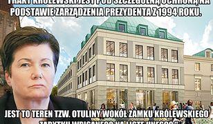 """""""Nie"""" dla pomnika na Krakowskim Przedmieściu"""