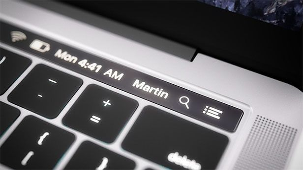 Panel dotykowy MacBooka Pro ma nie tylo wyświetlać statyczne przyciski funkcyjne, ale stanoić także menu kontekstowe, dopasowane do aktualnie działających apikacji.