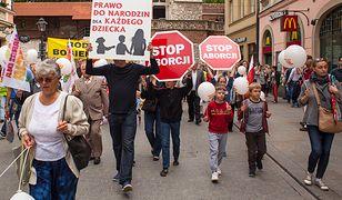 Manifestacja pro-life w Krakowie