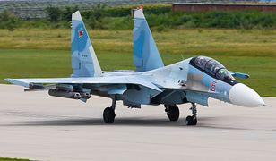 Samolot Su-30SM wyprodukowany w przez korporację Irkut w zakładach IAP