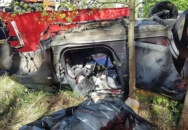 Wypadek na DK79 w Woli Filipkowskiej. Zginęły trzy osoby, kierowca był pijany