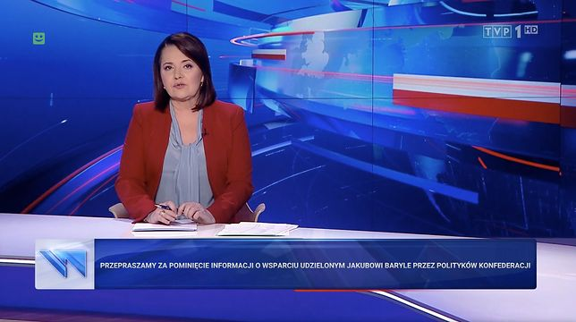 """Przeprosiny w """"Wiadomościach"""" TVP zostały skrytykowane przez prowadzącą Danutę Holecką"""