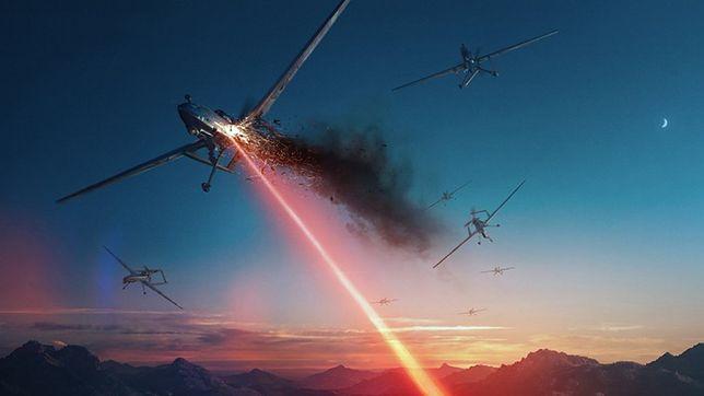 ATHENA strzela - drony spadają z nieba