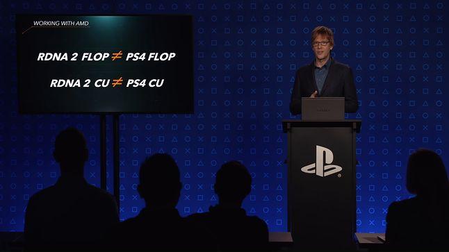 Mark Cerny słusznie zauważa, że nie ma sensu porównywać TFLOPsów między innymi generacjami sprzętu, fot. Sony