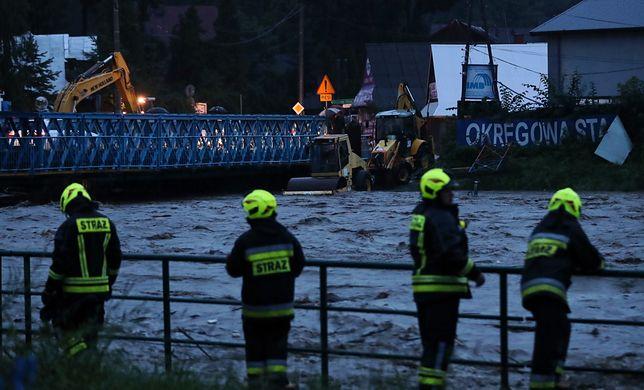 Wezbrana woda w Białym Dunajcu