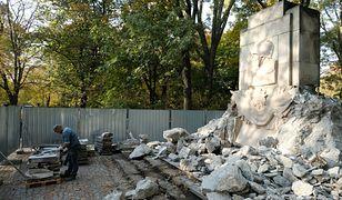 Rozbiórka obiektu w Parku Skaryszewskim