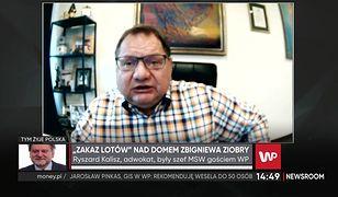 Zakaz lotów nad domem Ziobry. Ryszard Kalisz: to jest skandaliczne