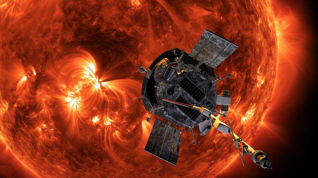 Sonda słoneczna Parker - wizualizacja