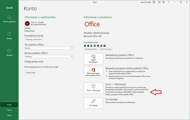 Nowy Excel aktualizuje się sam (fot. Kamil Dudek)