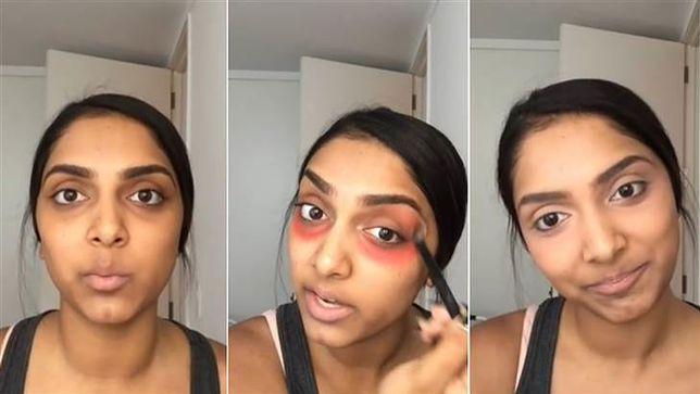 Czerwona szminka zamiast korektora: czy to działa?