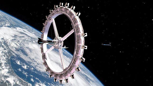 Wizualizacja kosmicznego hotelu Voyager