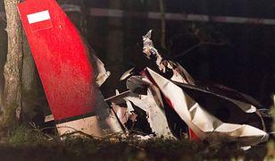 Miejsce wypadku awionetki w miejscowości Zawada, koło Piły