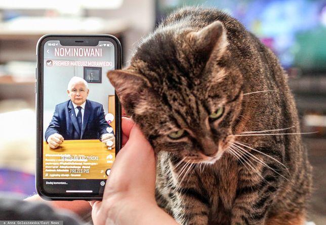"""Jarosław Kaczyński podczas wyzwania #SyopFurChallenge ws. """"Piątki dla zwierząt"""""""