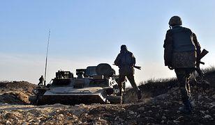 Ukraińscy żołnierze w regionie donieckim
