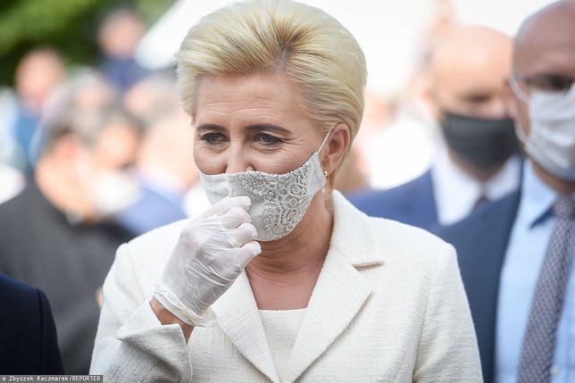 Agata Kornhauser-Duda i Andrzej Duda podczas Dożynek Prezydenckich