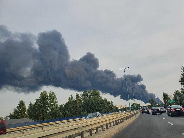 Pożar w Sosnowcu (fot. Oskar Ziomek)