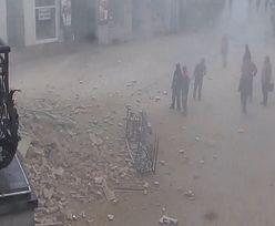 Nagranie z centrum Rybnika. Kamera uchwyciła moment katastrofy