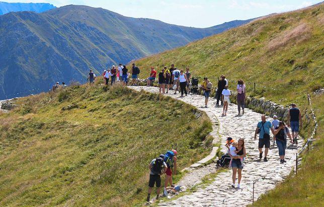 Turyści w górach czasem są zbyt nierozważni