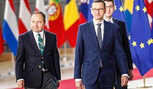 Konrad Szymański z premierem Morawieckim w Brukseli