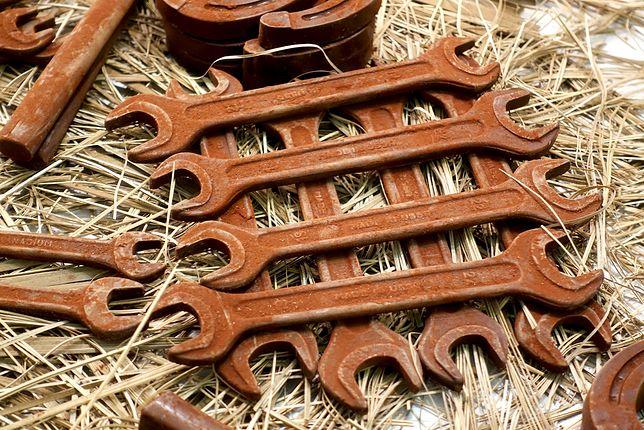 To nie zardzewiałe narzędzia, ale najprawdziwsza czekolada