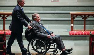 Nie tylko Wałęsa manifestował swoje poglądy. To samo zrobił Bush na pogrzebie żony