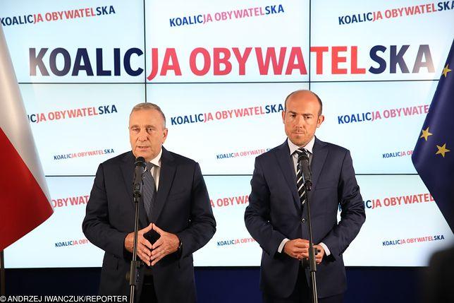 Grzegorz Schetyna i Borys Budka odnieśli się do afery w MS na konferencji prasowej
