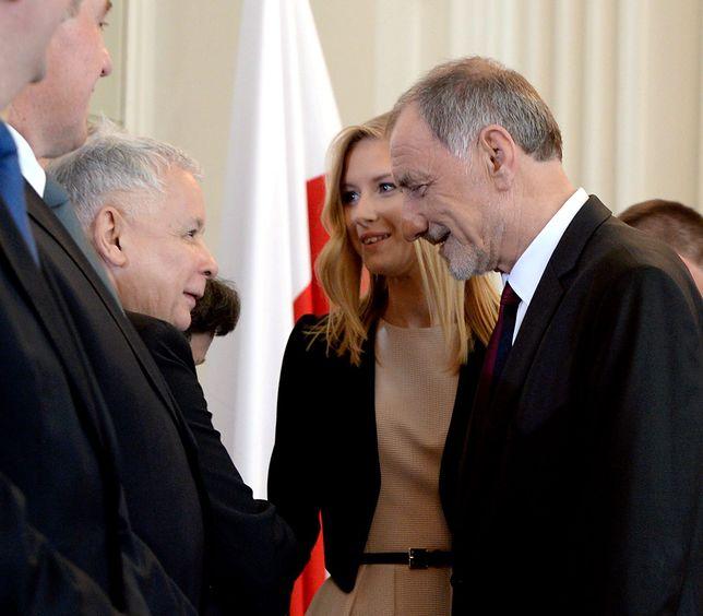 Jarosław Kaczyński i Kinga Duda
