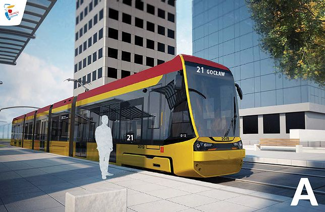 Warszawa. Mieszkańcy stolicy wybiorą wygląd 213 nowych tramwajów. Na zdjęciu jedna z propozycji