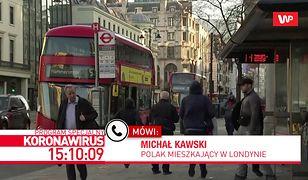 Koronawirus. Polak mieszkający w Londynie mówi, jak epidemia zmieniła życie ludzi w stolicy Wielkiej Brytanii