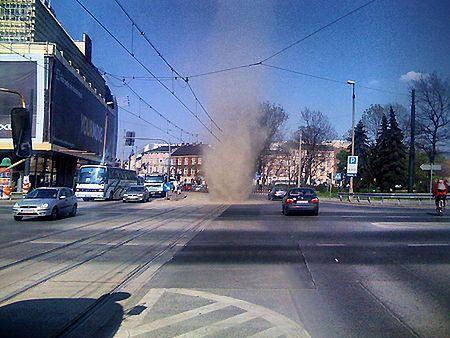 Trąba powietrzna w Krakowie
